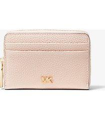 mk portafoglio piccolo in pelle martellata - rosa tenue (rosa) - michael kors