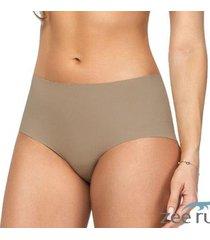 calcinha boxer cotton bege ca102 - feminino