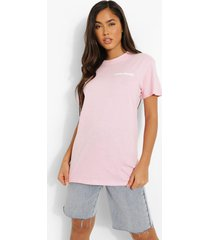 oversized mon cherie t-shirt, light pink