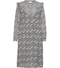amilla dress knälång klänning grå minus