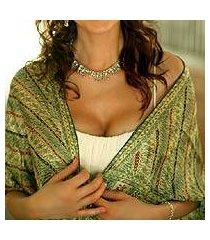 silk batik scarf, 'jade princess' (indonesia)