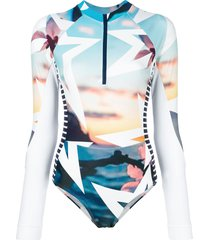 perfect moment ibiza star print spring suit - multicolour