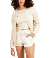 bar iii cozy cropped cardigan, created for macy's