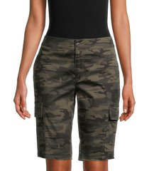 sanctuary women's bermuda camo-print shorts - mother nature - size xs