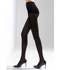 natori soft suede tights, women's, black, size m/l natori