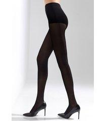 natori soft suede tights, women's, black, size m/l natori