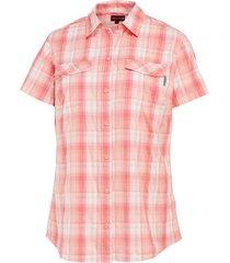 wolverine women's brook short sleeve shirt raspberry plaid, size xl
