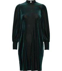 frnevelour 7 dress knälång klänning grön fransa
