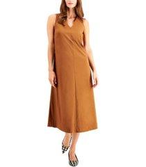 alfani cinched v-neck midi dress, created for macy's