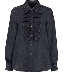 weekend max mara ricerca denim shirt