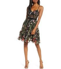 women's mac duggal embroidered fit & flare cocktail dress