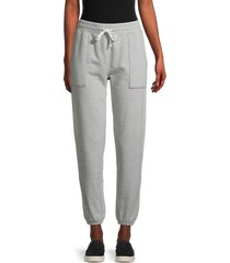 frame women's vintage heathered joggers - gris heather - size xs