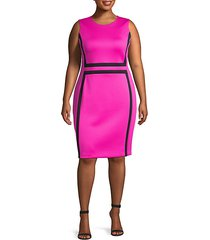 plus paneled sheath dress