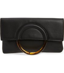 bp. ring handle classic clutch - black