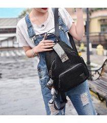 mochila de mujer, mochila antirrobo wild fashion para mujer-negro