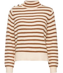 lin stripe knit stickad tröja brun mos mosh
