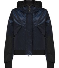 holden reflective detail hooded padded jacket - blue