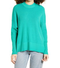 women's dreamers by debut oversize sweater, size medium - green