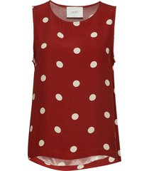 caia top t-shirts & tops sleeveless rood just female