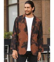 chaqueta casual suelta estampada con efecto tie dye estilo callejero de moda para hombre