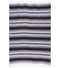 native yoga economy flaza mexican blanket gray cotton
