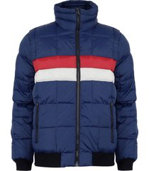 parka tommy hillfiger azul - calce regular