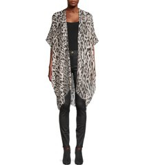 marcus adler women's animal-print shawl - leopard