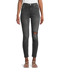 blair high-rise distressed ankle jeans
