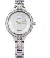 reloj marca loix ref l1146-2 plata