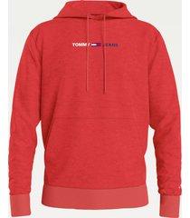 tommy hilfiger dm0dm10190 straight hoodie twb deep crimson jeans