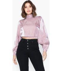glamorous long sleeve metallic top blusar & skjortor