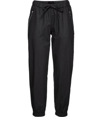 pantaloni cropped in misto lino (nero) - bodyflirt