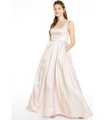 say yes to the prom juniors' square-neck iridescent gown, created for macy's