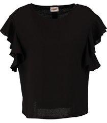 vero moda aware zwart oversized shirt stevig polyester