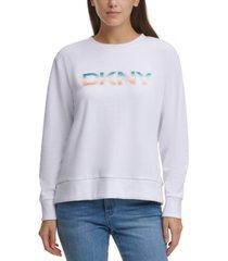 dkny rainbow-logo sweatshirt