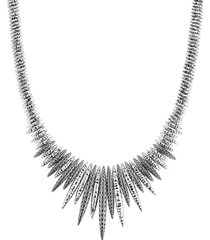 'classic chain tiga' silver spear bib necklace