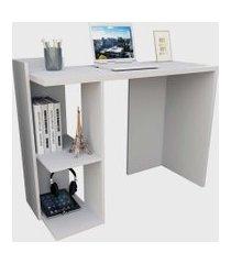 mesa para escritório sense c/ 2 nichos branco appunto