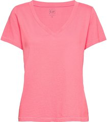 100% organic cotton vintage v-neck t-shirt t-shirts & tops short-sleeved rosa gap