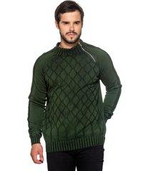 blusa officina do tricô hungria verde