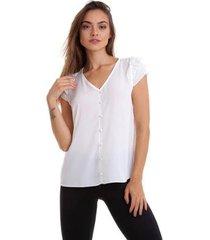 blusa kinara botões perolas feminino