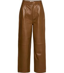aliahgz culotte leather leggings/byxor brun gestuz