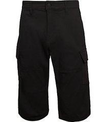 black n' blanc cargo shorts