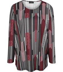 topp m. collection svart::röd::grå