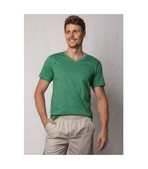 camiseta pau a pique masculina verde