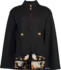 baroque print lined fitted cape