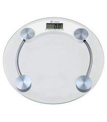 balança digital redonda - suporta até 180kg - yins home