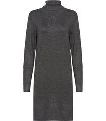 u6801, milasz rollneck dress knälång klänning grå saint tropez