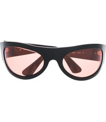 moschino pre-owned 1990s chunky tinted sunglasses - black