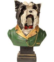 escultura decorativa de resina busto cachorro baskerville