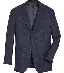 awearness kenneth cole men's navy shadow plaid modern fit sport coat - size: 56 long
